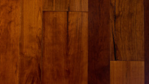 reclaimed cherry with oil finish from Rousseau Reclaimed Lumber & Flooring in South Portland, Maine