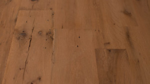 antique white oak with subtle driftwood finish from Rousseau Reclaimed Lumber & Flooring in South Portland, Maine
