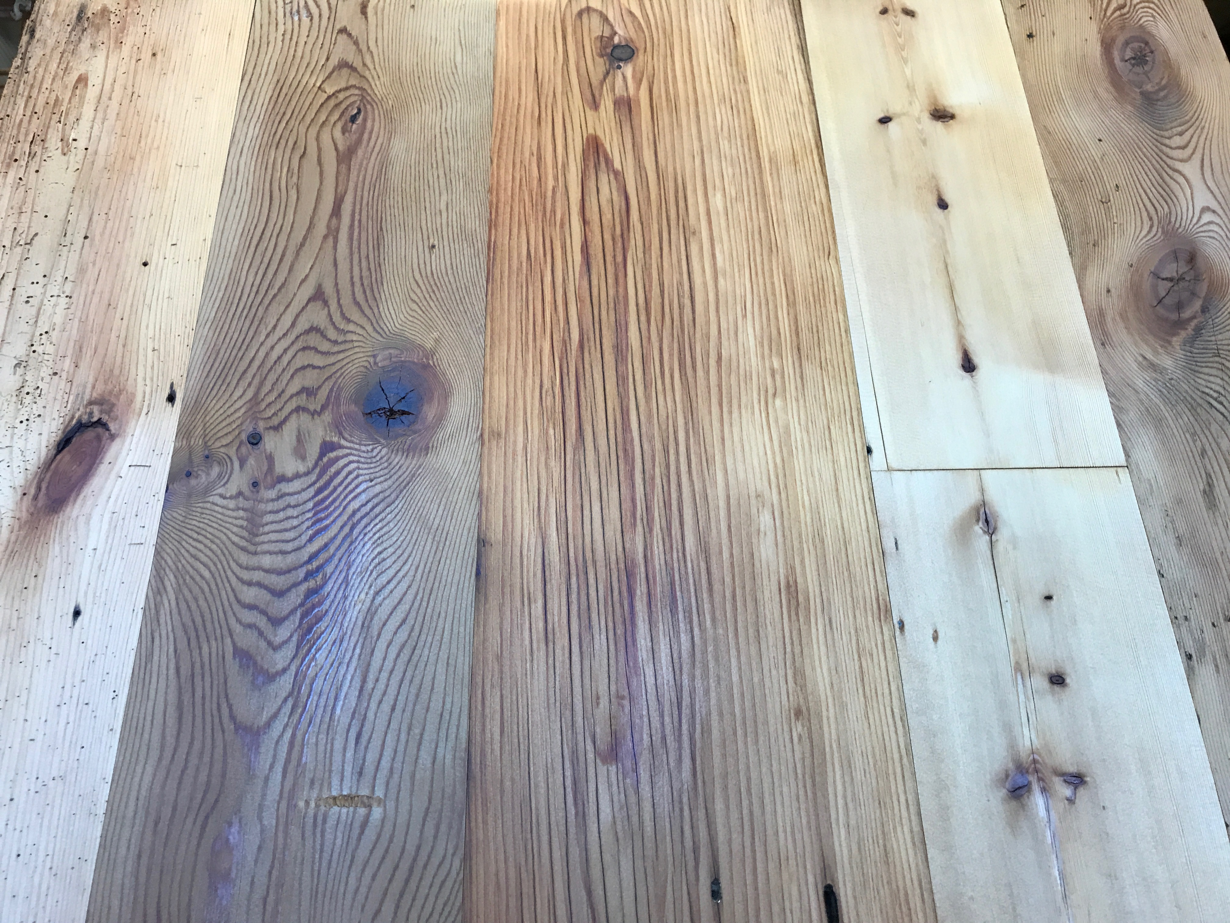 Residential flooring made from reclaimed Bigelow Range lumber in Cumberland Foreside, Maine